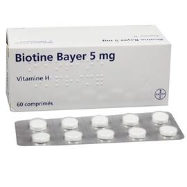 Biotine 5mg - 60 comprimés - bayer -192807