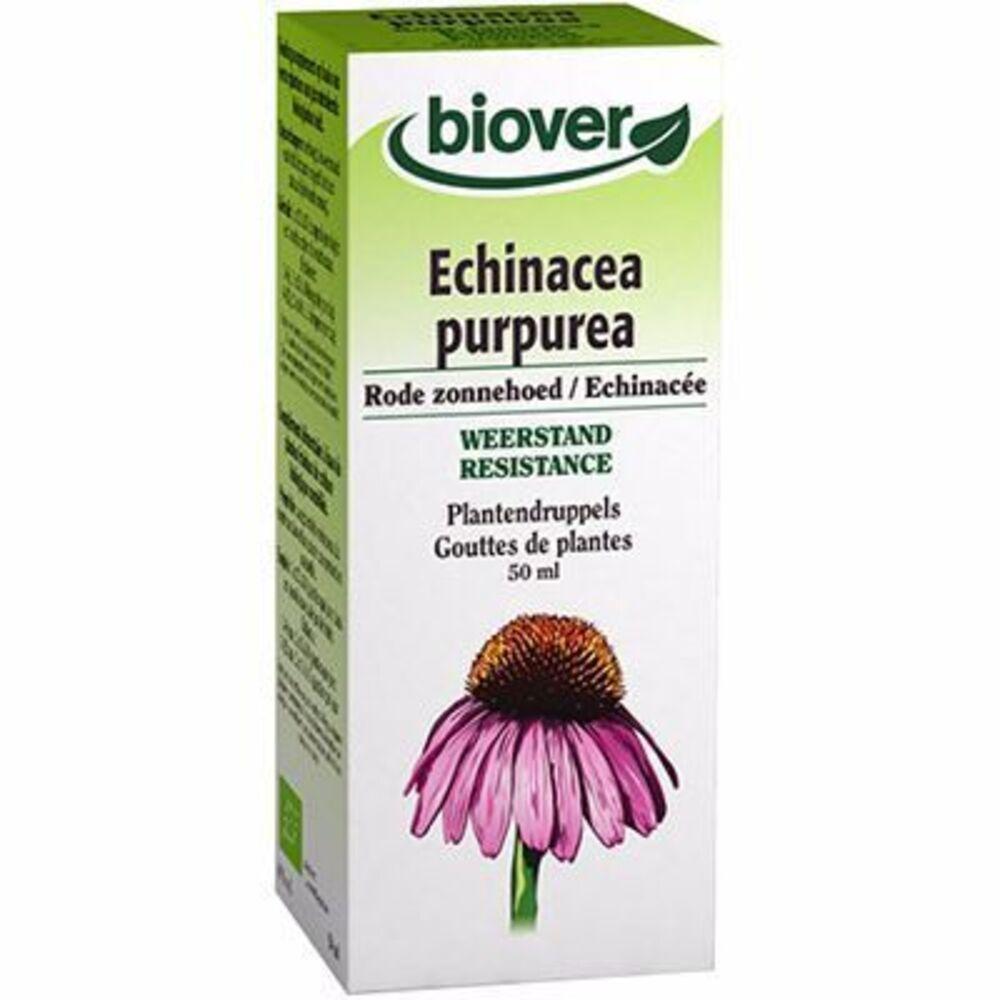 Biover teinture mère echinacée echinacea purpurea bio 50ml - 50.0 ml - gouttes de plantes - teintures mères - biover Protection naturelle de l'organisme-8962