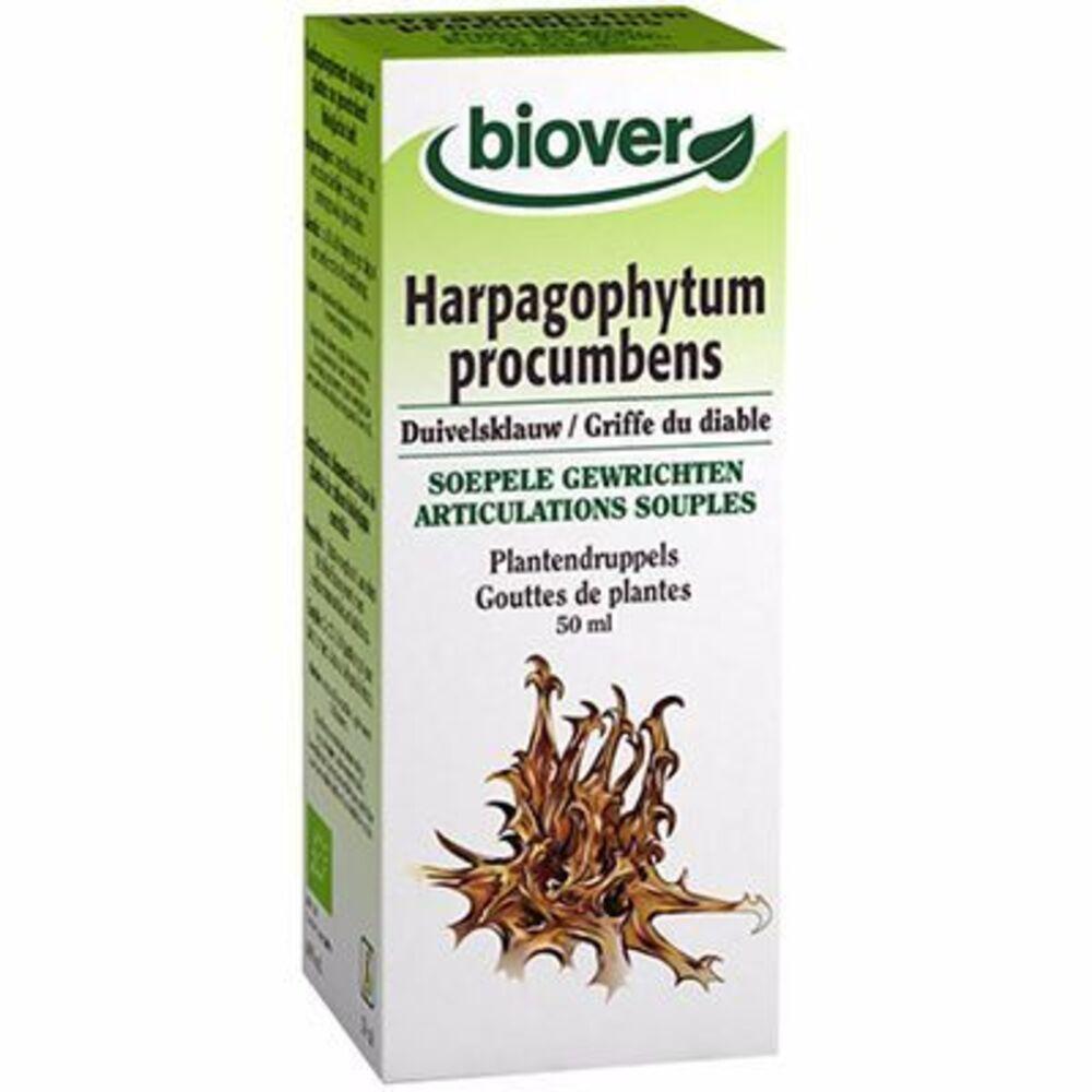 Biover teinture mère griffe du diable harpagophytum procumbens bio 50ml - 50.0 ml - gouttes de plantes - teintures mères - biover -8979