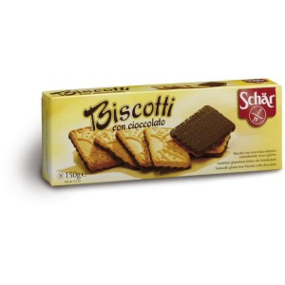 Biscotti, biscuits nappés chocolat - 150 g - divers - schar -138181