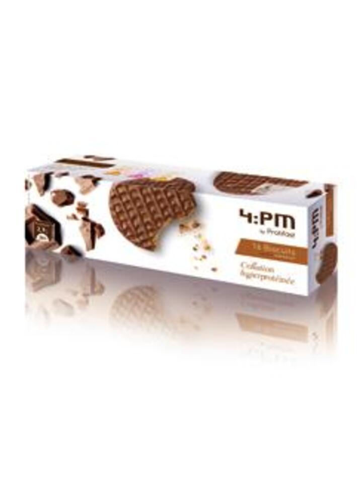 Biscuit chocolat x16 - protifast  4:pm riches en protéines saveur chocolat.-148475
