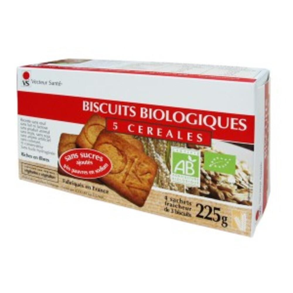 Biscuits 5 céréales sans sucre ni sel bio - boite 225 g - divers - vecteur santé -142722