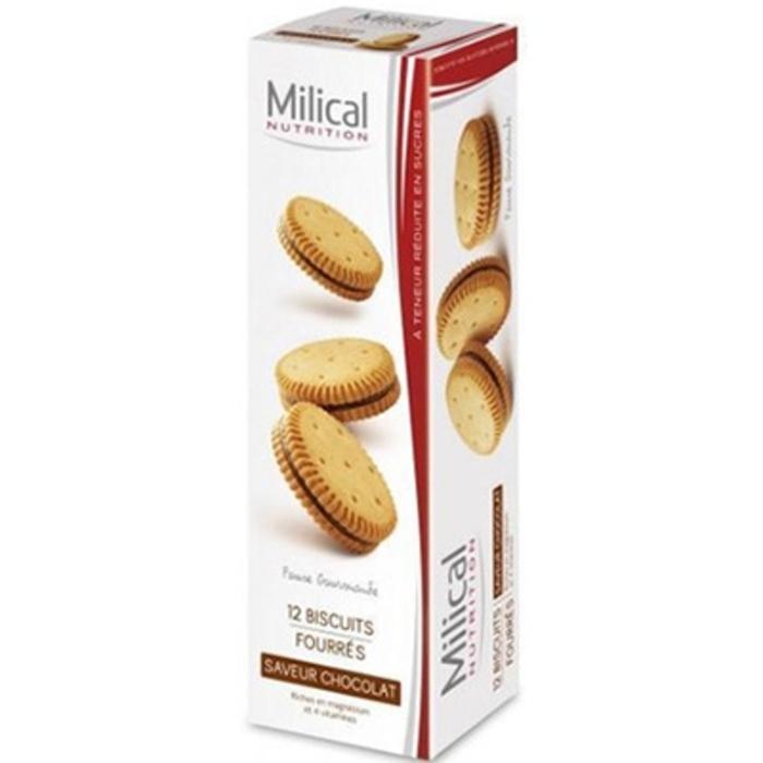Biscuits fourrés chocolat x12 Milical-195981