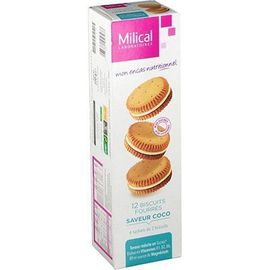 Biscuits fourrés coco x12 - milical -226748