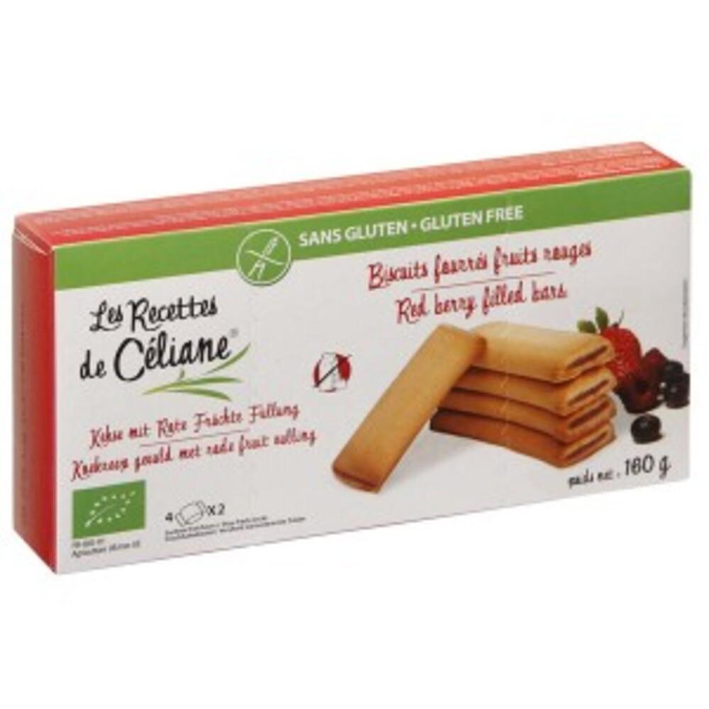 Biscuits fourrés fruits rouges bio - 160 g - divers - les recettes de celiane -136733