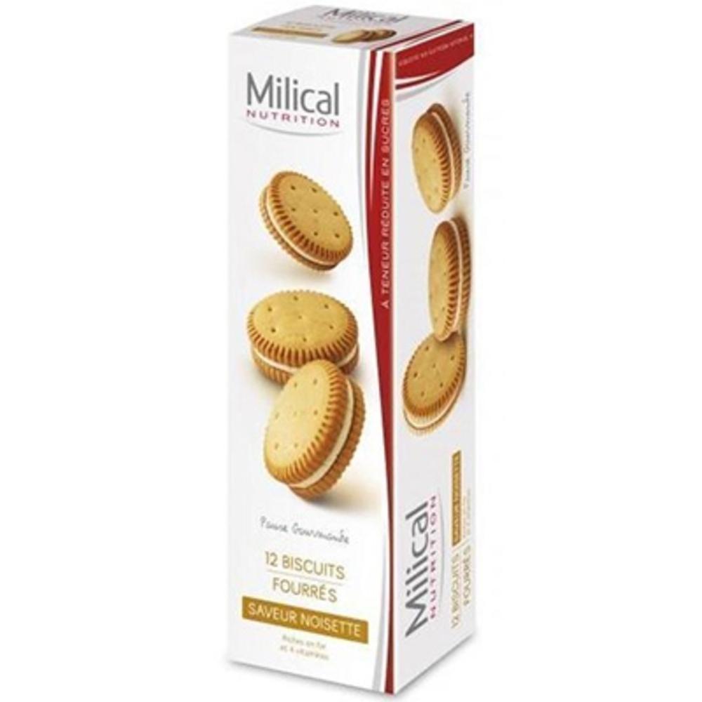 Biscuits fourrés noisette x12 - milical -195983