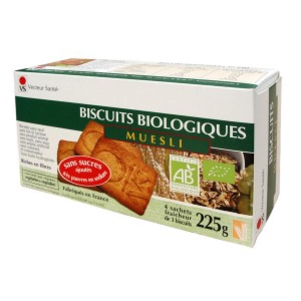 Biscuits müesli sans sucre ni sel bio - boite 225 g - divers - vecteur santé -142721
