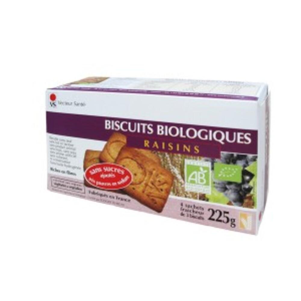 Biscuits raisin sans sucre ni sel bio - boite 225 g - divers - vecteur santé -140920