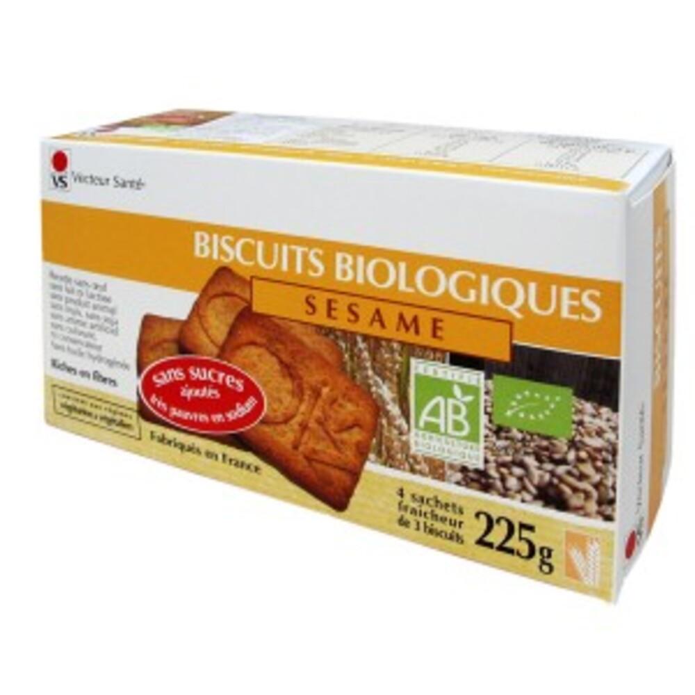 Biscuits sésame sans sucre ni sel bio - boite 225 g - divers - vecteur santé -142720