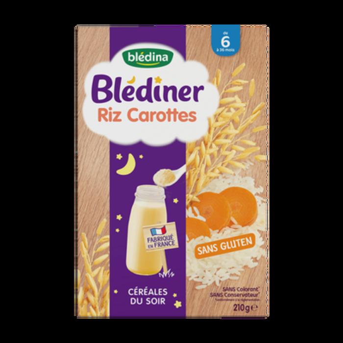 Blédiner riz carottes 210g Bledina-229006