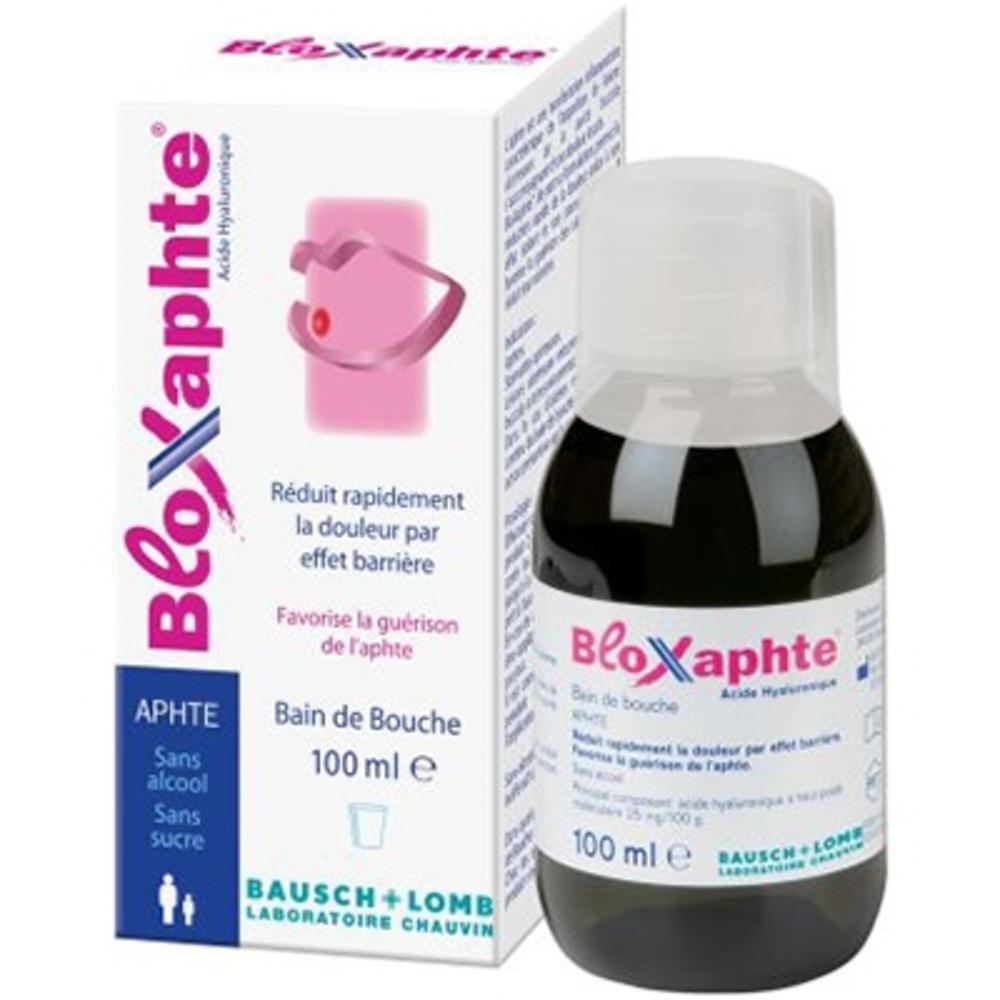 Bloxaphte bain de bouche sans alcool - 100ml - bausch & lomb -205521