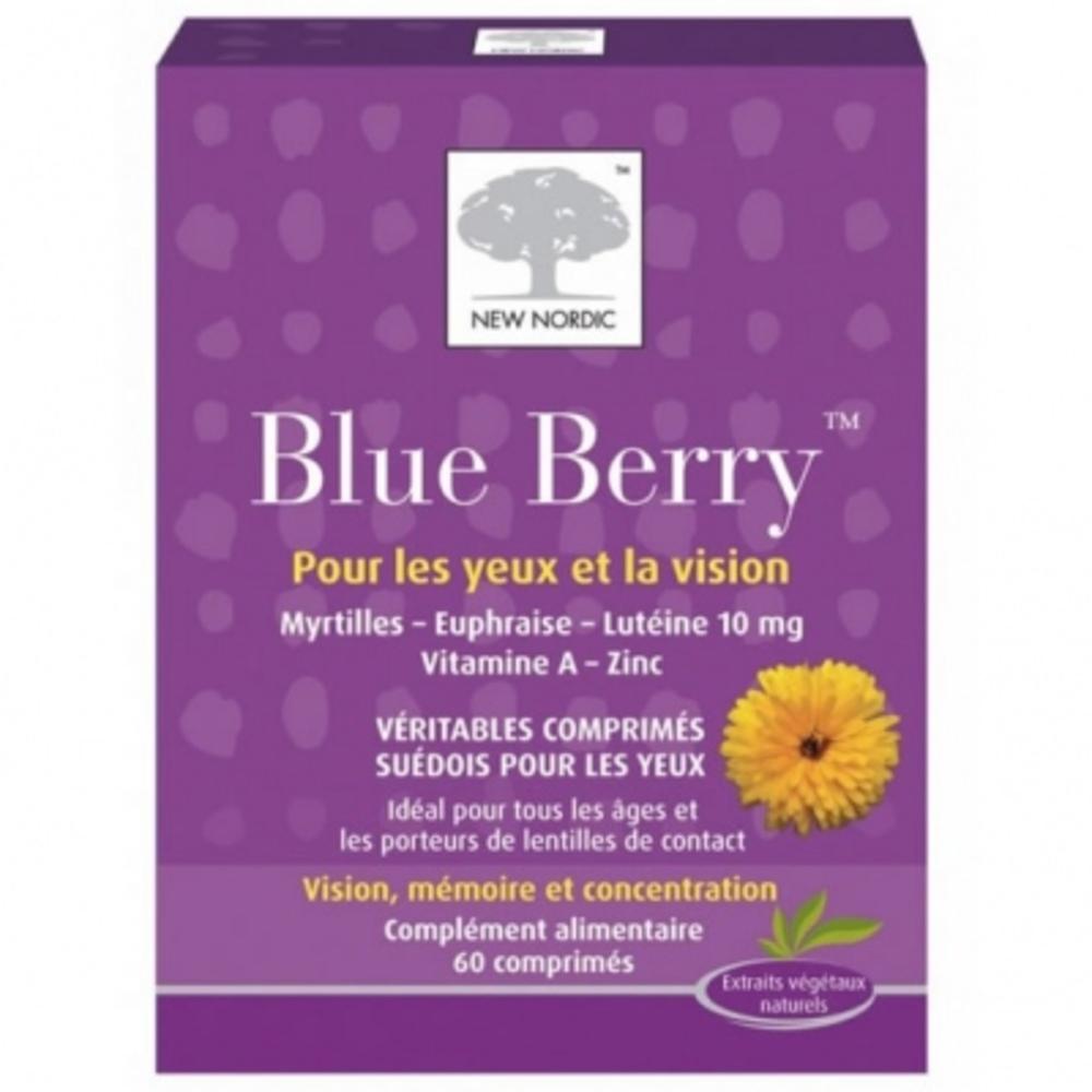 Blue berry - 60 comprimés - new nordic -195229