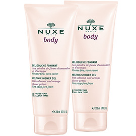 Body gel douche fondant - lot de 2 - nuxe -198960