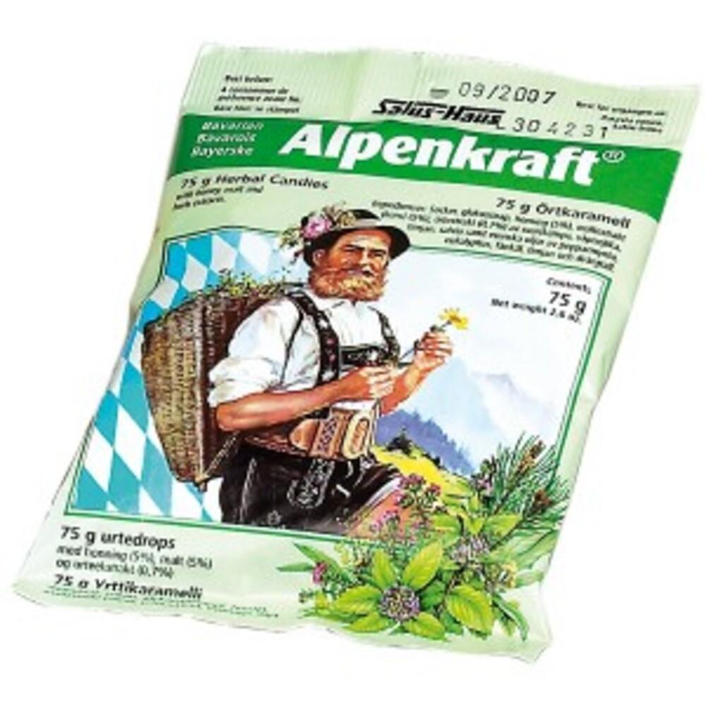 Bonbons alpenkraft - sachet 75 g - divers - salus -137922