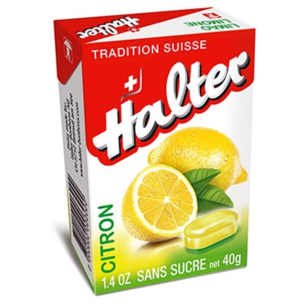 Bonbons citron sans sucre 40g - halter -195032