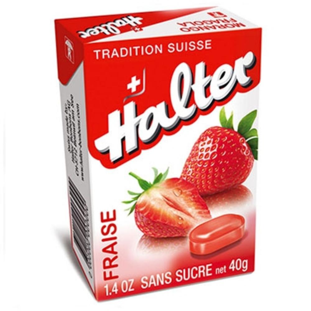 Bonbons fraise sans sucre 40g Halter-195035