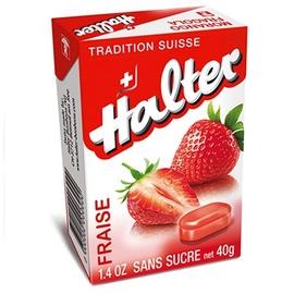 Bonbons fraise sans sucre 40g - halter -195035