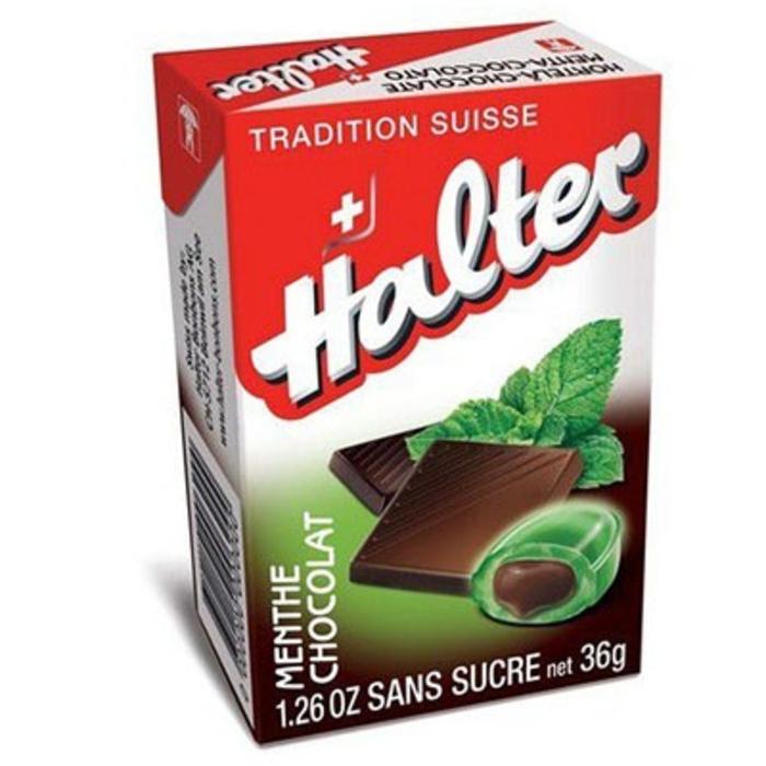 Bonbons menthe chocolat sans sucre - 36 g Halter-195038