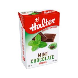 Bonbons menthe chocolat sans sucre - 36 g - halter -195038