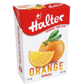 Bonbons orange sans sucre - 40g - halter -197220