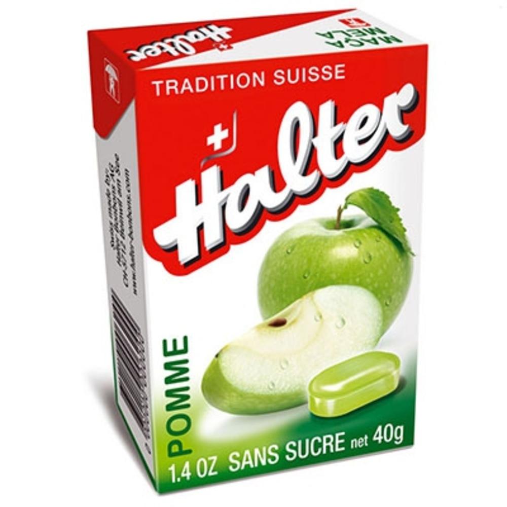 Bonbons pomme sans sucre - 40 g - halter -195040