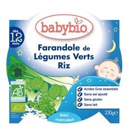 Bonne nuit légumes verts et riz bio - dès 12 mois - 230g - divers - babybio -133650