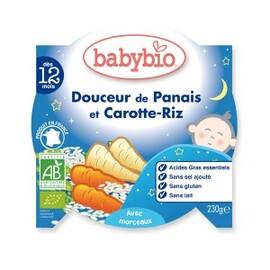 Bonne nuit panais + carottes et riz bio - dès 12 mois - 230g - divers - babybio -133651