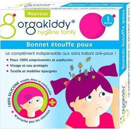 Bonnet etouffe poux rose - orgakiddy -223759