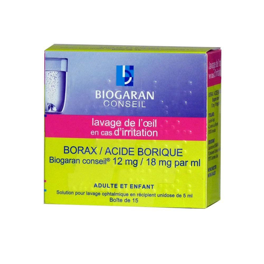 Borax / acide borique  conseil 12mg/18mg - 5.0 ml - biogaran -192375