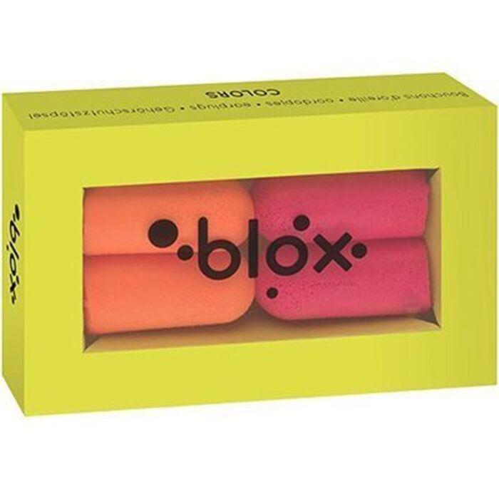 Bouchons d'oreille couleurs - 2 paires Blox-225751