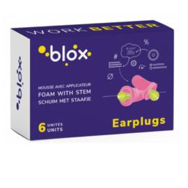 Bouchons d'oreille mousse avec tige - 3 paires - blox -225747