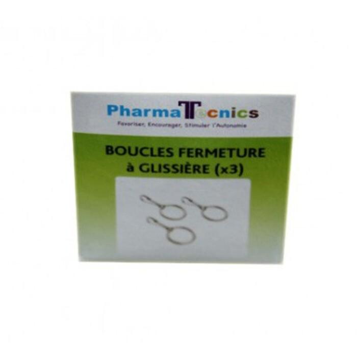 Boucles fermeture à glissière x3 Pharma tecnics-210156