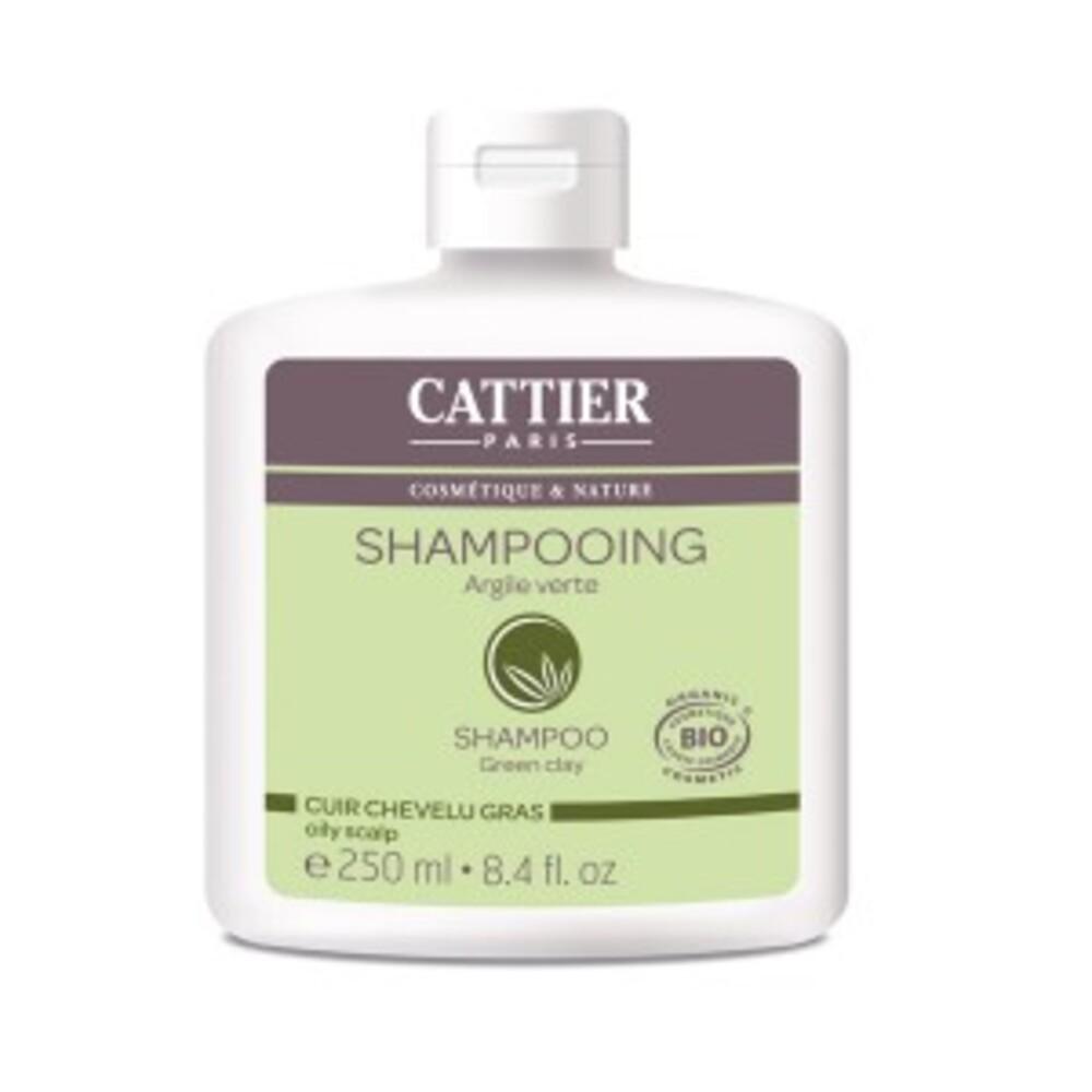 Boue à l'argile verte bio - 250.0 ml - shampooings - cattier Cheveux gras-1512