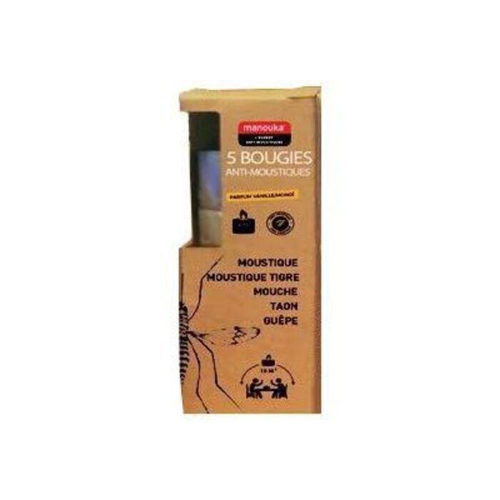 Bougies anti-moustiques vanille/monoï x5 Manouka-226360