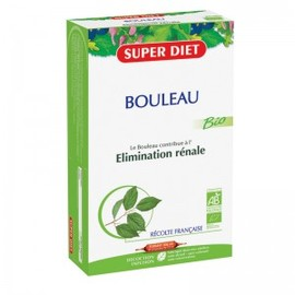 Bouleau ampoules bio - 20.0 unites - elimination-minéralisation - super diet Elimination rénale-4452