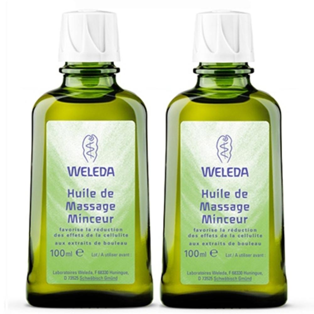 Bouleau huile de massage minceur lot de 2 x 100ml - weleda -195668