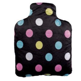 Bouteille bouillotte noir pois multicolores - pelucho -223288