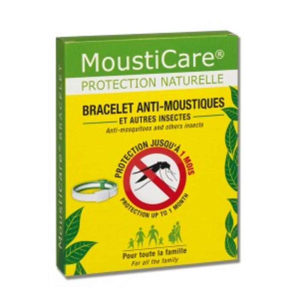 Bracelet anti-moustiques blanc et vert - divers - mousticare -136996