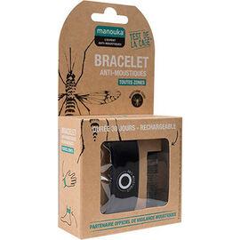 Bracelet anti-moustiques noir + recharge 6ml - manouka -226362