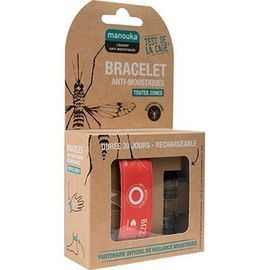 Bracelet anti-moustiques orange + recharge 6ml - manouka -226363
