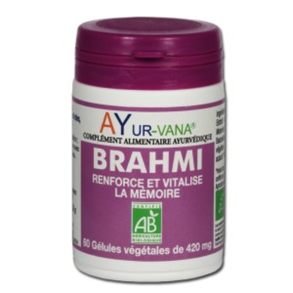 Brahmi bio (bacopa monnieri) - flacon de 60 gélules... - divers - ayur-vana -188769