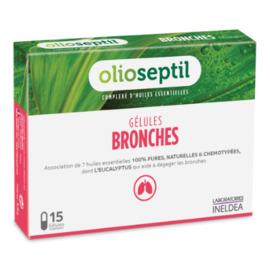 Bronches 15 gélules végétales - 15.0 unites - aromathérapie - olioseptil -137202
