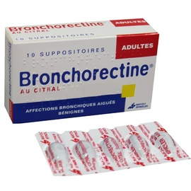 Bronchorectine au citral adultes - 10 suppositoires - mayoly spindler -192433
