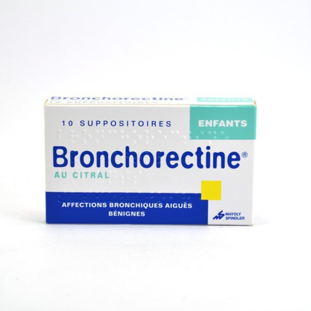 Bronchorectine au citral enfants - 10 suppositoires - mayoly spindler -193109