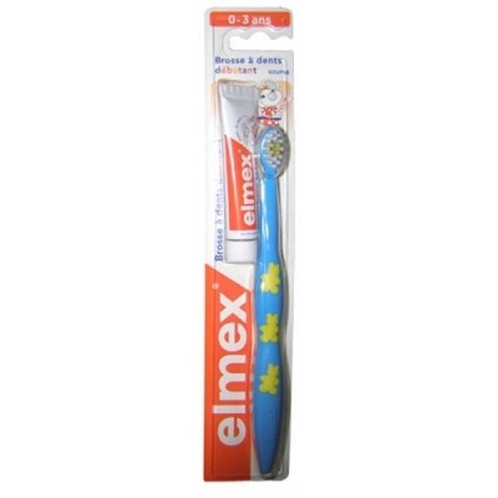 Brosse à dents débutant souple 0-3 ans bleu Elmex-17189