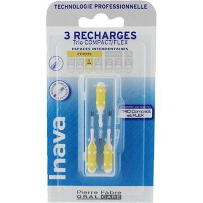 Brossettes interdentaires jaune 1mm x3 Inava-226372