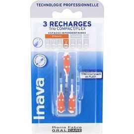 Brossettes interdentaires orange 1.2mm x3 - 3.0 u - inava -226326