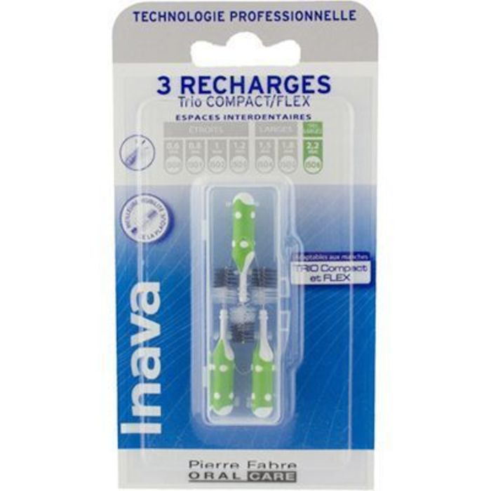 Brossettes interdentaires vert 2.2mm x3 Inava-226371