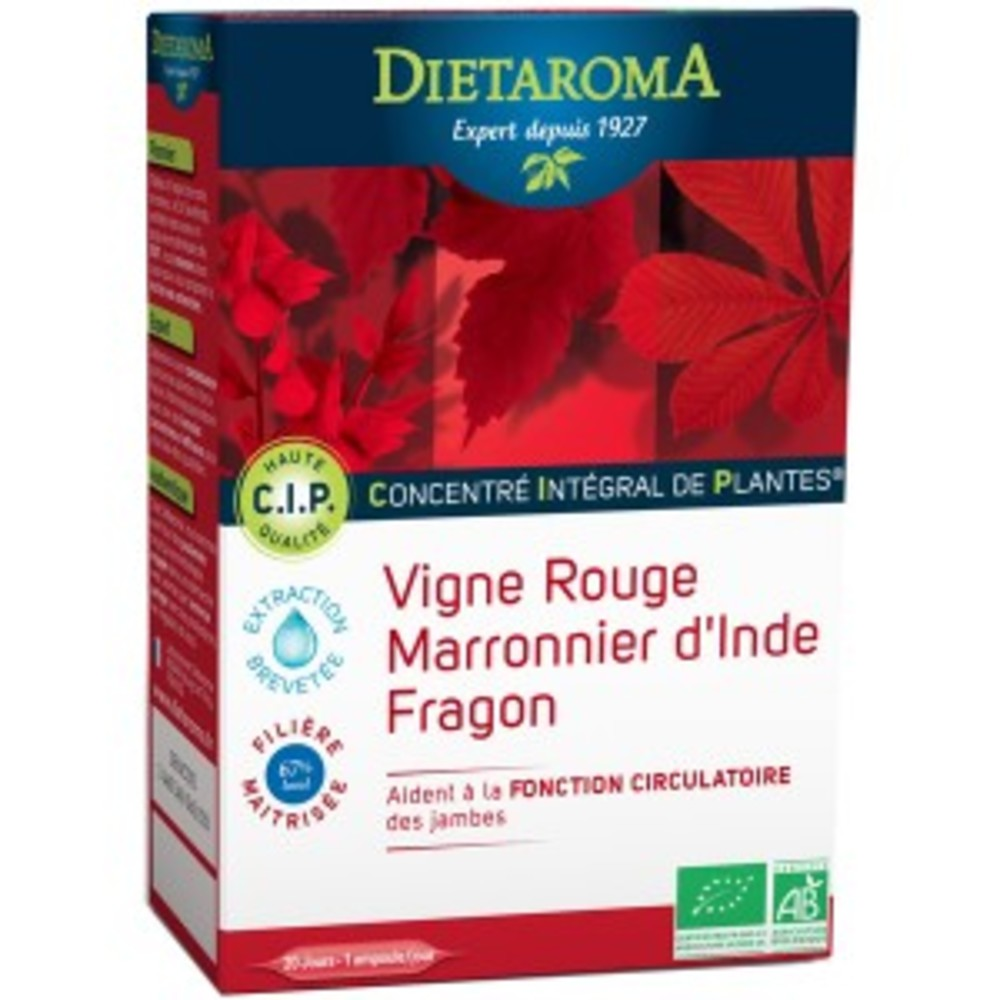 C.i.p. circulation bio - 20 ampoules de 10 ml - divers - diétaroma -142028