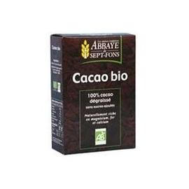 Cacao 100% pur, sans sucre ajouté bio - 200.0 g - petits déjeuners - abbaye de sept-fons -11992